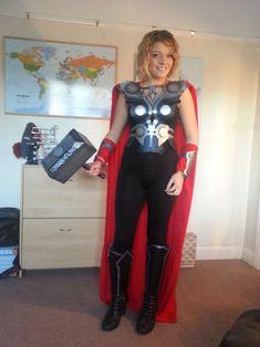 Lady Thor Loki Halloween Costume, Costume Thor, Costumes Avengers, Female Thor Costume, Halloween Costumes For Girls, Girl Costumes, Costumes For Women, Cosplay Costumes, Costume Ideas