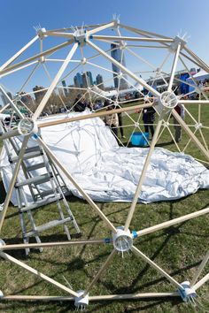 Geodesic Dome Kit, Boat Bed, Boat Dock, Dome Structure, Wall Tent, Outdoor Fun, Outdoor Decor, Wood Boat Plans, Tent Design