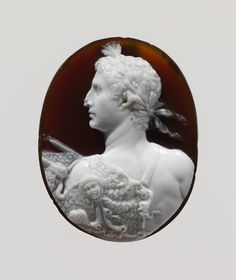 ⊙ Cameo Cupidity ⊙ Sardonyx cameo portrait of the Emperor Augustus, Roman, early Imperial period, circa 41-54 AD,