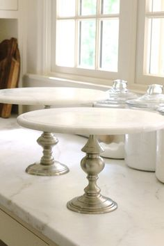 Marble & Pewter Cake Stand - Everyday Occasions