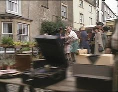 The Rough & The Smooth (1989) Market Place, Middleham, Wensleydale, North #Yorkshire - Siegfried chases an escaped dog. #James_Herriot #All_Creatures_Great_And_Small #Yorkshire_Dales