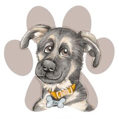 Different dog, different personality Different Dogs, Caricature, Dog Breeds, Personality, Cartoon, Drawings, Illustration, Animals, Animales