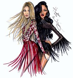 Hayden Williams Fashion Illustrations: Shakira ft Rihanna pt2 by Hayden Williams