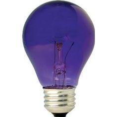 GE 22731 25-Watt 1900-Lumen Specialty A19 Incandescent Light Bulb, Purple/$4.87