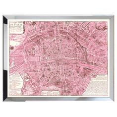 Check out this item at One Kings Lane! Map of Pink Paris