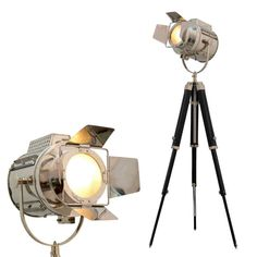 Floor Lamp Industrial Vintage Design Tripod Lighting Searchlight Spot Light #OceansTreasure