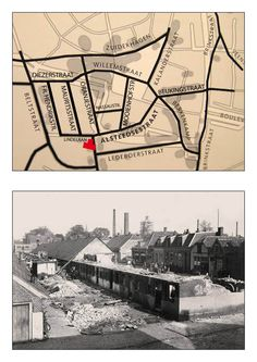 Oranjestraat vanaf de Lindelaan, op de achtergrond het huidige stadhuis in aanbouw. In het midden de straat rechtsaf is de Nassaustraat welke van de Oranjestraat naar de Mooienhofstraat liep.