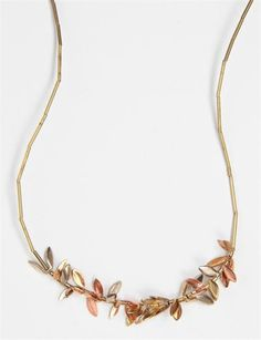 Samma Wheat Toggle Clasp Necklace- Brass/Copper