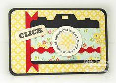 """Click"" Project Life Filler Card- Like the idea-could use any Cricut shape really-like my bird or tree.."