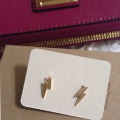 Lightning Bolt Earrings Gold plated / silver plated                                         Sterling silver 925 post. Approx 3x11 mm. New. Jewelry Earrings