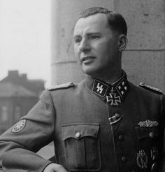 Leon Degrelle, the real deal,leader of the Belgian rexist party he personally led his men in battle.his act of superhuman endurance when he brought his men out of the witches kettle at cherkasy is still studied today at western military colleges.