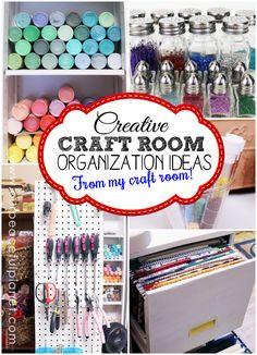 The Most Creative Craft Room Organization Ideas - Huhn Handwerk Craft Room Storage, Craft Organization, Storage Ideas, Craft Rooms, Organizing Crafts, Organizing Life, Closet Organization, Storage Solutions, Scrapbook Storage