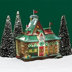 "Department 56: Products - ""North Pole Express Depot"" - View Lighted Buildings"