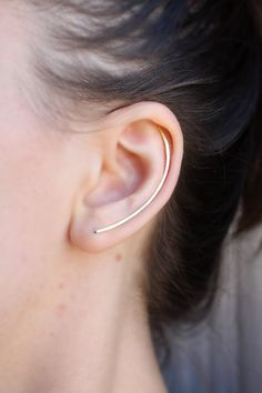 Ear Climber Gold  Rose Gold  Silver Ear by SusyDeMarchiJewelry