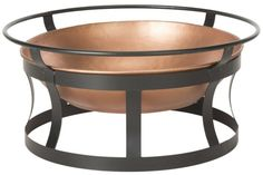 The wood-burning Copper Fire Pit with Black Iron Stand Grate and Fire Poker invites guests to linger on the patio long into the night. The copper and black finish of this fire pit will add an exciting focal point to any deck or patio. Fire Pit Grate, Iron Fire Pit, Propane Fire Pit Table, Fire Pit Bowl, Fire Bowls, Fire Pits, Copper Fire Pit, Natural Gas Fire Pit, Copper Tub