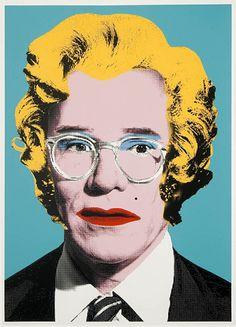 Andy Warhol as Marilyn, by Mr. Brainwash, pop art. #mrbrainwash