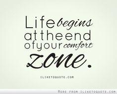 Salgamos de la zona de comfort.