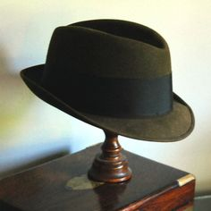 Vintage Fedora, before hipsters changed its elegance.