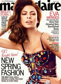 Eva Mendes, for Marie Claire March 2012, wearing Dolce & Gabbana S/S 2012 Corset.