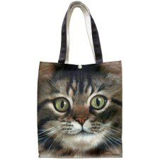Cotton canvas handprinted with organic pigments. Constructed with double layered web handles, reinforced stitching throughout with a sturdy bottom insert. Snap closure guards against spills. Cat Merchandise, Cat Cushion, Cat Grooming, Cat Gifts, Canvas Tote Bags, 5 D, Cat Lovers, Cotton Canvas, Tabby Cats