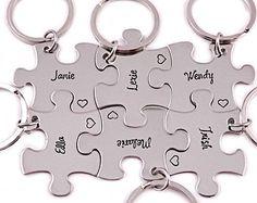 Bruidsmeisje puzzel stuk cadeauset  Hand van Stampressions op Etsy