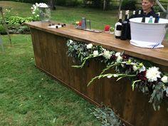 Walnut Stained Wood Bar