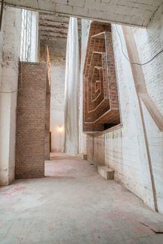 Eladio Dieste, Lauro Rocha · San Pedro Church · Divisare Modern Architecture Design, Brick, Fire, Places, 1st Year, Mosques, Dns, Terra, Anonymous