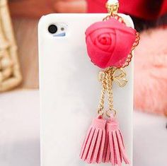 roses tassels Samsung iPhone dust plug rose for $7 Only! Shop Now! for order queries inbox us at https://www.facebook.com/Glamourforgirls or email us at glamourous_girls@hotmail.com