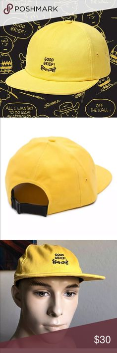 4985e104cf6 Vans Men s Good Grief Snap-Back Hat X Peanut AUTHENTIC Good Grief Snap-Back  · Iconic CharactersBrown VansVintage ComicsGriefVans MenCharlie ...