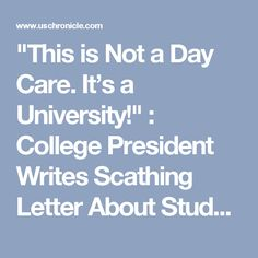 """""""This is Not a Day Care. It's a University!"""" : College President Writes Scathing Letter About Students Wanting To Play The Victim And Blame Others - US Chronicle"""