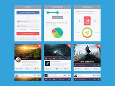 Flat UI WIP designed by Meng To. Connect with them on Dribbble; Web Design, Flat Design, Site Design, Ui Kit, Mobile App Templates, Web 2.0, Ui Patterns, Flat Ui, Ui Design Inspiration