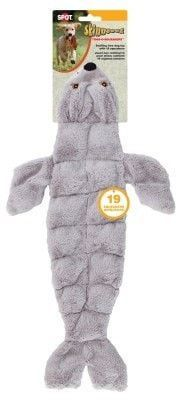 """DOG TOYS - PLUSH - PLUSH SKINNEEEZ TONS O SQUEAKERS SEAL - 21"""" - ETHICAL PRODUCTS - UPC: 77234043271 - DEPT: DOG PRODUCTS"""