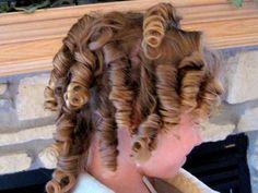Shirley temple curls (tip: rag curls using socks)