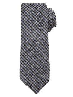 Micro-Gingham Tie