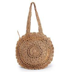 Summer Straw Women Handbags Bohemian Style Beach Shoulder Bags Round Handmade Weaving Hollow Out Crossbody Single Bag Tote Bolsa