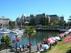 Victoria, British Columbia, Canada Barry and I stayed at a B&B in 2000.  Beautiful city with lovely hanging baskets.