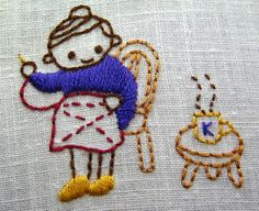 september color challenge--japanese embroidery by kunderwood {stitchy stitcherson}, via Flickr