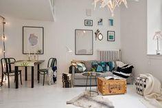 Inspiración espacios pequeños: Vivir en un loft mini