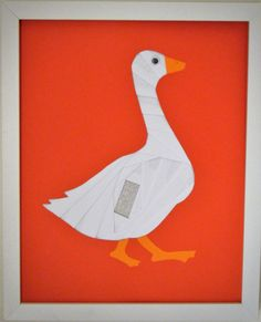paper iris goose