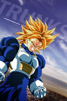 Dragon Ball Z - Trunks by on DeviantArt Dragon Ball Gt, Dragon Z, Fanarts Anime, Manga Anime, Gogeta Ss4, Vegeta Y Trunks, Super Trunks, Dbz Characters, Animes Wallpapers