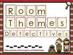 All you need to give your classroom that themed look!Included in this unit Sets of Coordinating Calendar Pieces. Think this is my new favorite! Classroom Setting, Classroom Design, Classroom Themes, Mission Impossible Theme, Detective Theme, Sign Language Alphabet, Fifth Grade, Classroom Management, Kindergarten