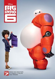 Disney Big Hero 6 movie poster with Hiro and Baymax. This poster is fun and a great one to own. Come get your Big Hero 6 Poster today. Disney Pixar, Disney Dvd, Heros Disney, Animation Disney, Disney Movies, Animation Movies, Disney Marvel, Prime Movies, Hd Movies