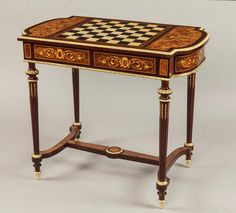 An Attractive Games Table of the Napoleon IIIrd Period  - French, Circa 1870