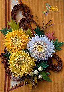 Neli Quilling Art: Chrysanthemums