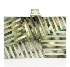 Kelly Wearstler: Mother Of Pearl Fractured Clutch at Moda Operndi