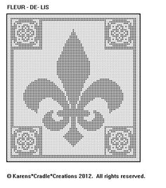 Original filet crochet pattern artwork © Karens Cradle Creations, Only two stitches are used in thiseasy open, lacey filet crochet pattern – the chain and the double crochet stitch. Filet Crochet Charts, Knitting Charts, Crochet Stitches, Cross Stitch Designs, Cross Stitch Patterns, Cross Stitching, Cross Stitch Embroidery, Loom Patterns, Crochet Patterns