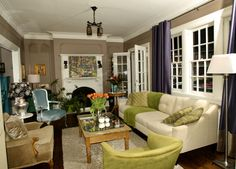 Weimaraner by Benjamin Moore. Color I'm considering for foyer/family room/kitchen. I love it but I'm nervous it's too dark.