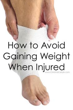 Losing Weight While Injured. Discover how to lose weight and avoid weight gain with an injury from Trainer and Nutritionist Christina Carlyle. Fast Weight Loss, Weight Loss Plans, Weight Loss Program, Weight Loss Tips, Lose Weight, Lose Fat, Broken Ankle Recovery, Acl Recovery, Surgery Recovery
