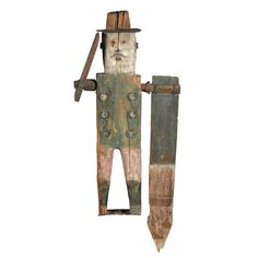 United States Late 19th century Whirligig depicting a Civil War or Indian Wars period officer.