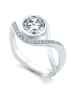 1 Ct GIA Round Cross Shank Bezel Diamond Engagement Ring G Vs2 - Si1 Natural Modern Engagement Rings Now @ Exclusive Manufacturing Wholesale Price Only $4999! http://www.amazon.com/dp/B0093DO96G/ref=cm_sw_r_pi_dp_kO6sqb1K2X2VG